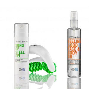 Aktivebycharlotte Baller af Stål Gel, Feeling Good Face & Body Oil + Massageruller