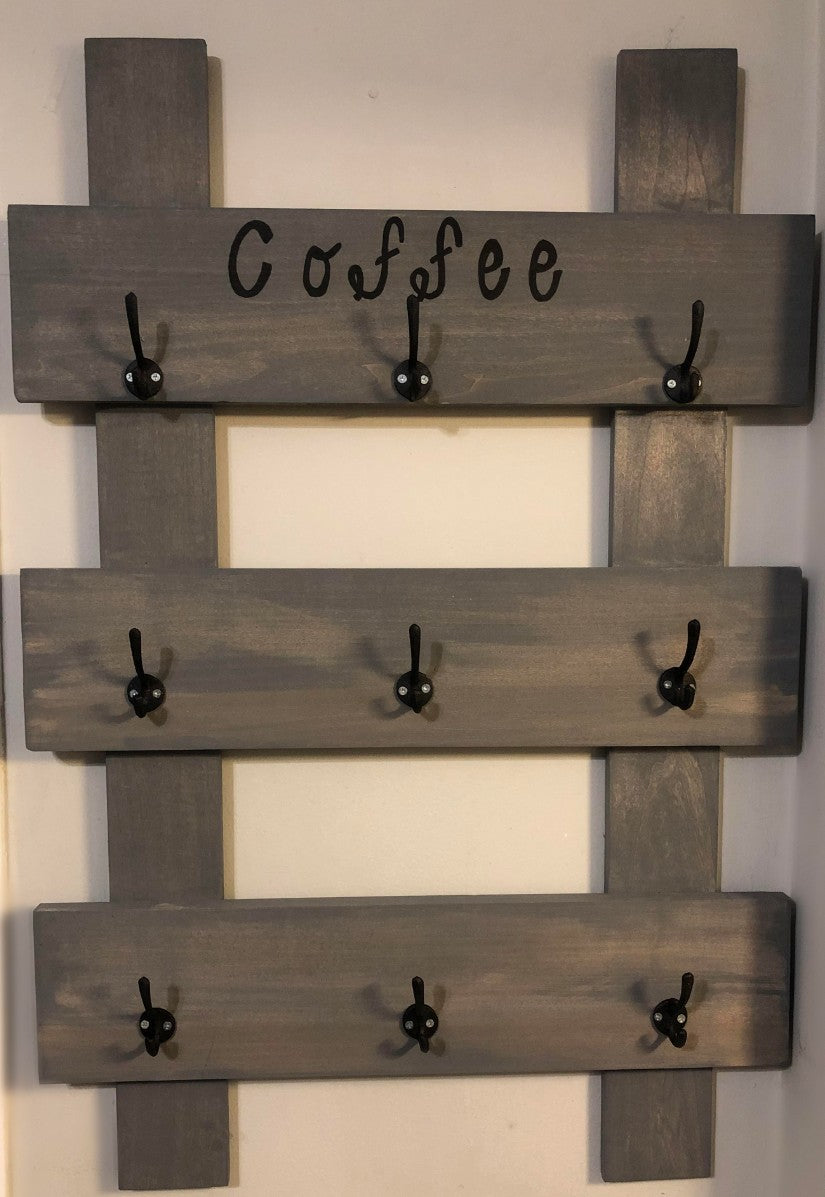 Reclaimed Wood Coffee Stand