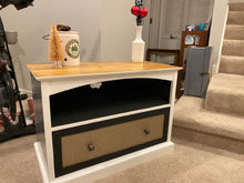 Load image into Gallery viewer, Vintage farmhouse entertainment stand