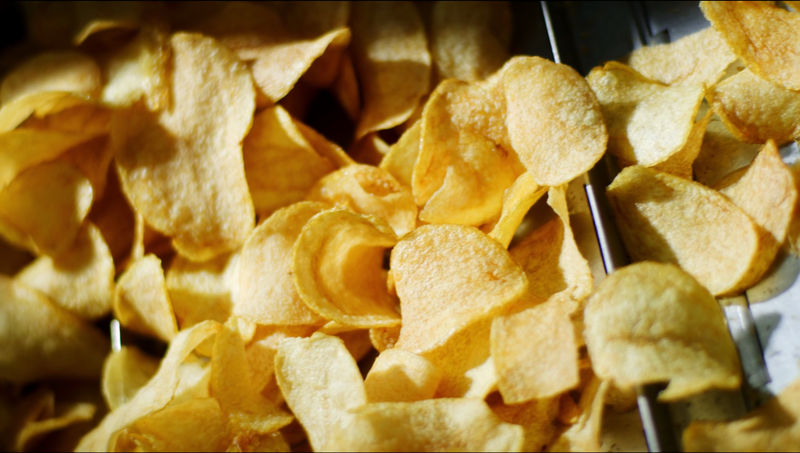 How our Salted Egg Potato Chips are made frying