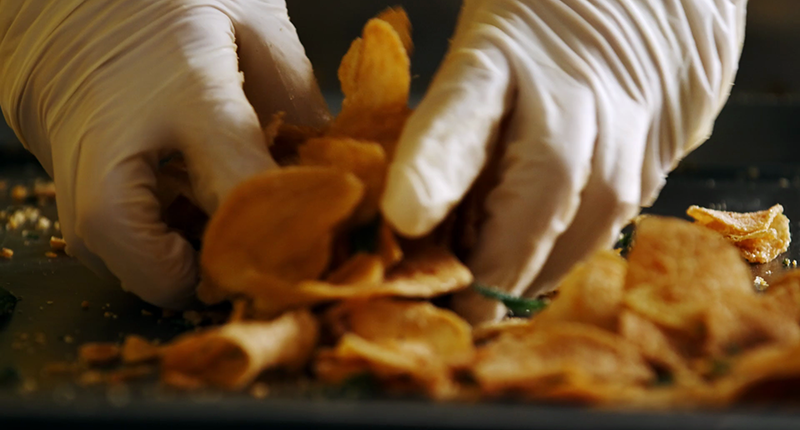 how irvins salted egg chips are made packing