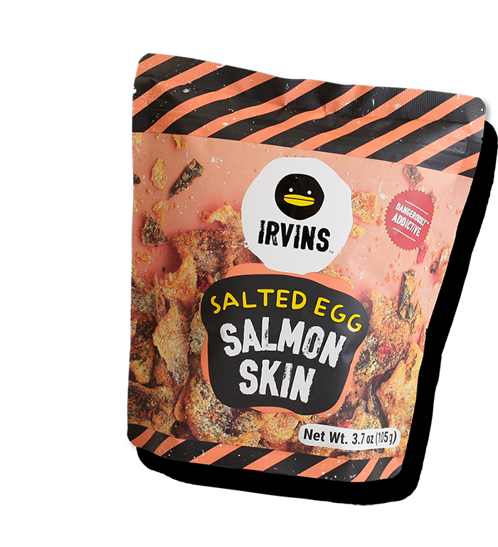 salted egg salmon skin