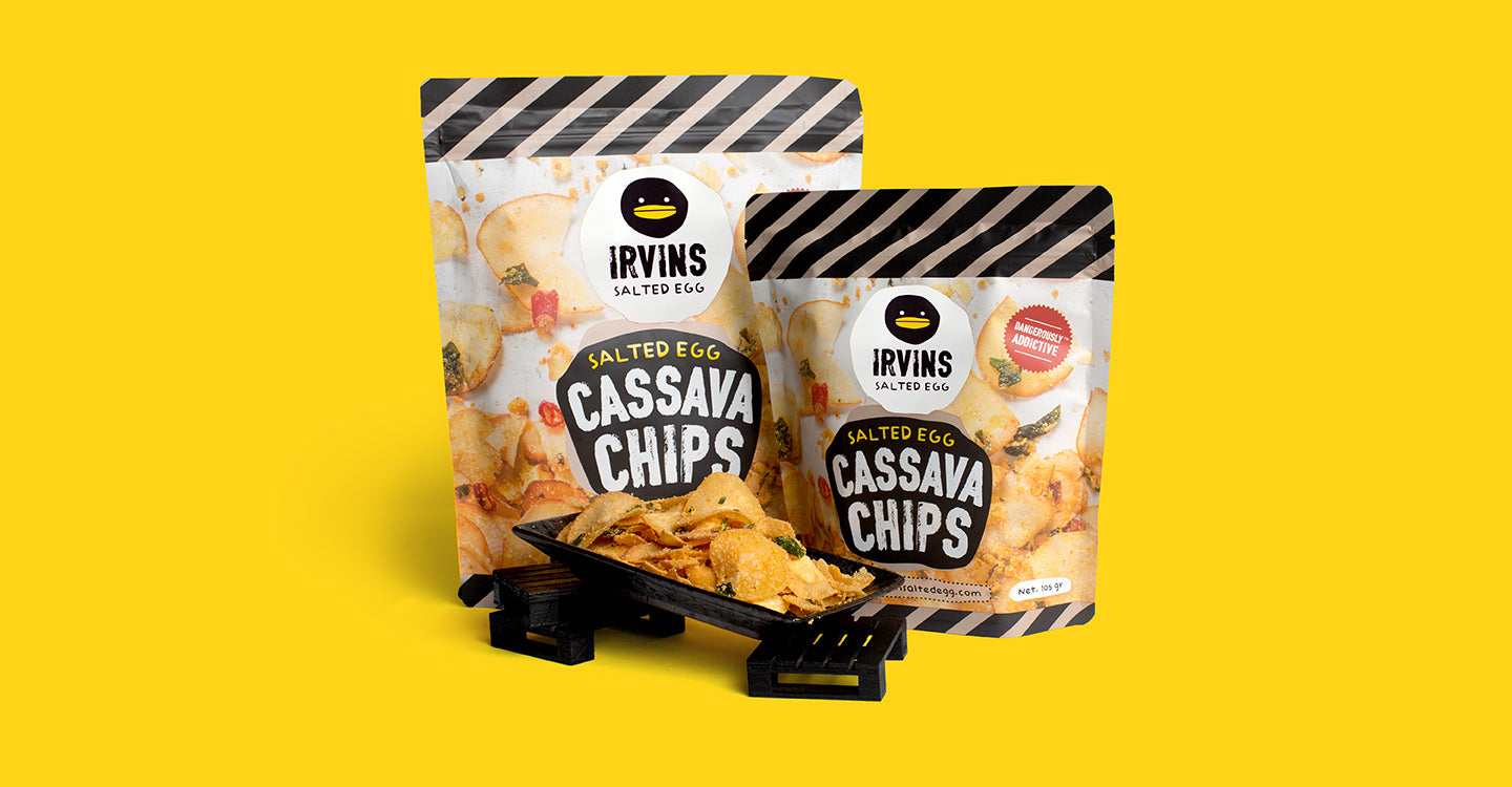 Salted Egg Cassava Chips Banner