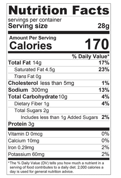 Chicken Curry Potato Chips Nutritional Facts