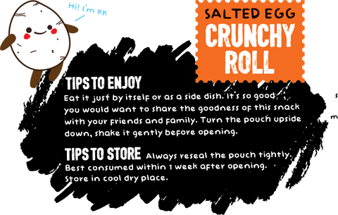 Salted Egg Crunchy Roll Eating Tips