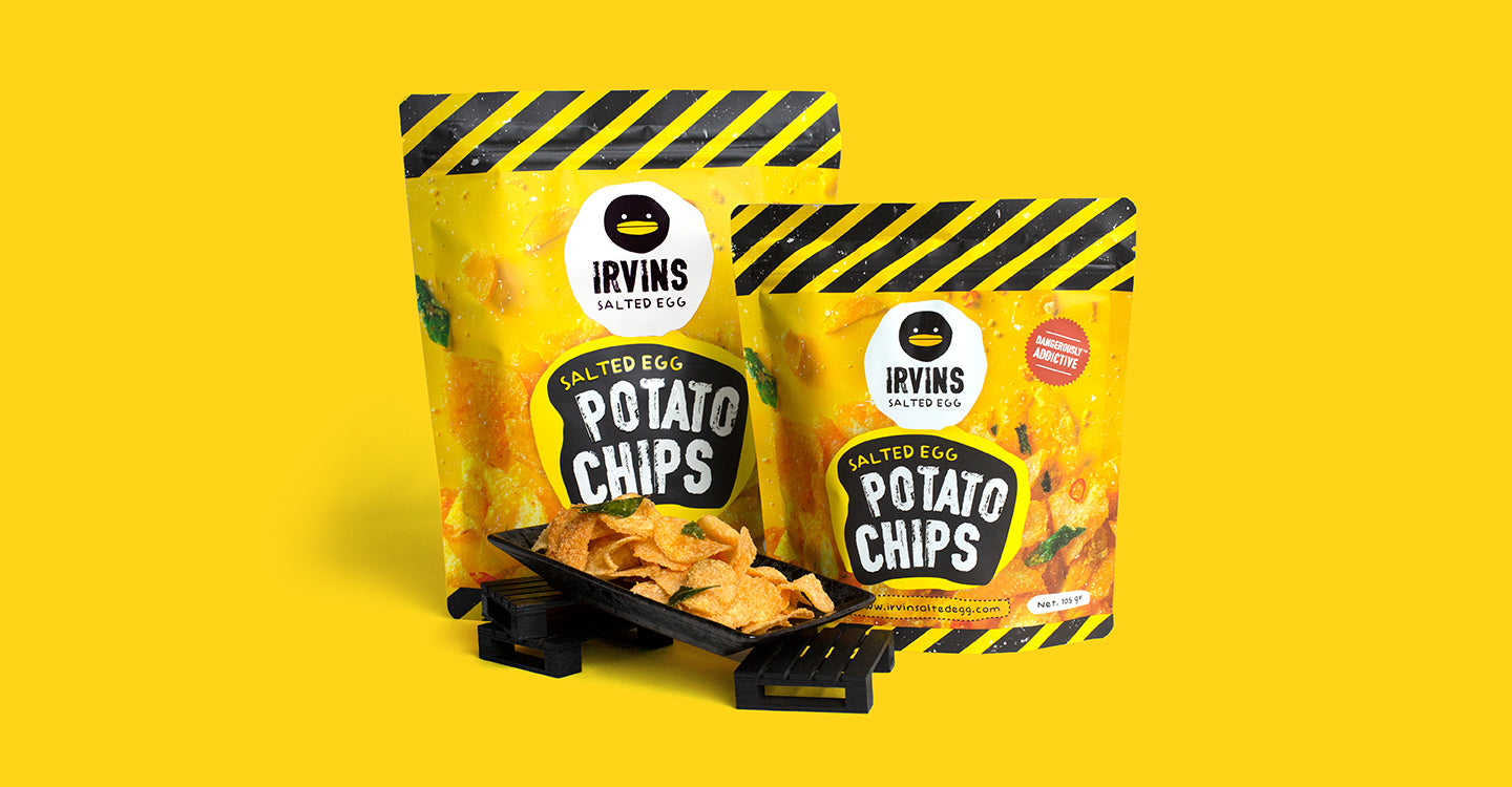 Salted Egg Potato Chips Banner