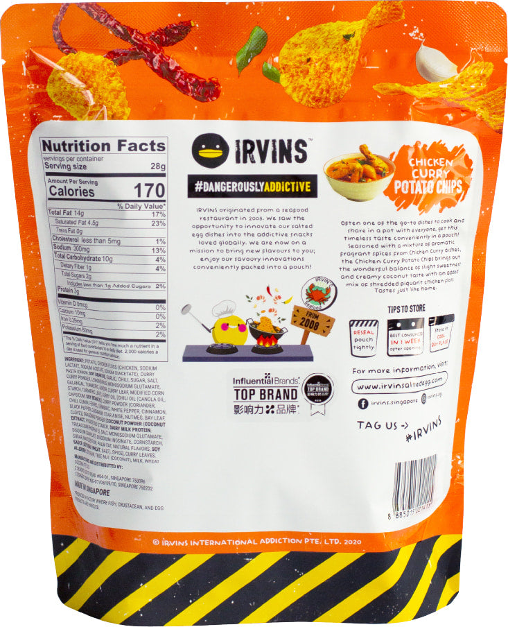 Chicken Curry Potato Chips (105g) back image