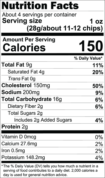 Spicy Salted Egg Pack Nutritional Facts