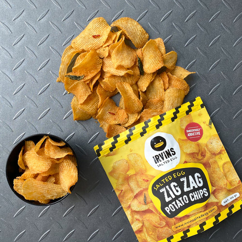 IRVINS Salted Egg Zig Zag Potato Chips Small (105g)