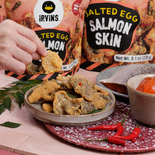 IRVINS Salted Egg Salmon Fish Skin (105g)