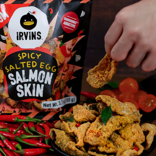 IRVINS Hot Boom Salted Egg Salmon Skin Small (105g)