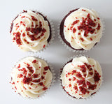 Red Velvet Choc Chip Cupcake