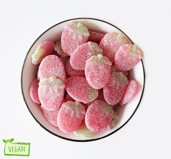 Fizzy Strawberry Sweets