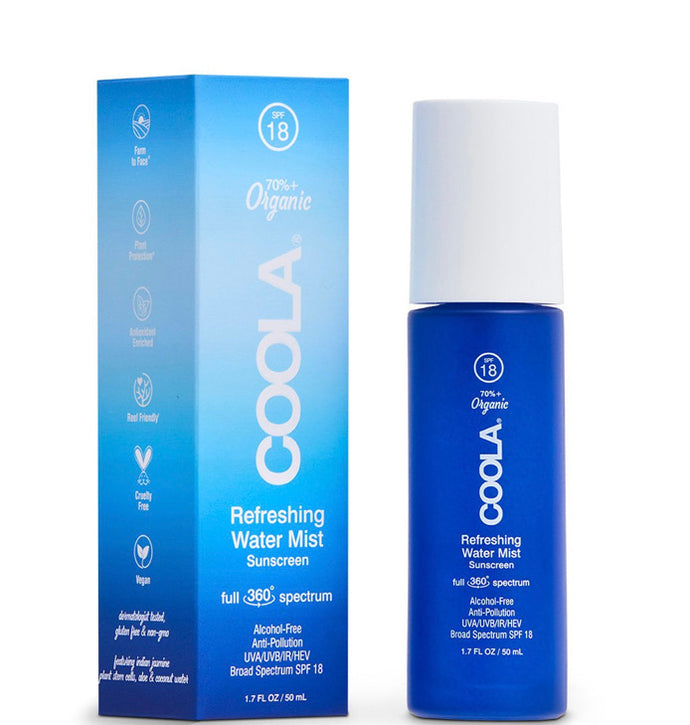 Coola Refreshing Water Mist Organic Face Sunscreen SPF 18