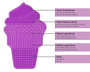 Silicone Brush Cleaning Pad (Ice Cream Cone)