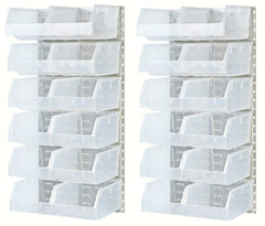 AM33CLK Clear Medical Bin and Louver Kit|kit AM33CLK de persianas y contenedor médico transparente