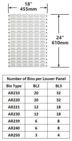 BL2 Pack of 2 Louver|BL2 Caja de 2 Persiana