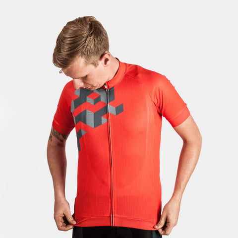 Cubes 8-Bit Jersey - Red - Men's S, L, XL, Women's S, M, L