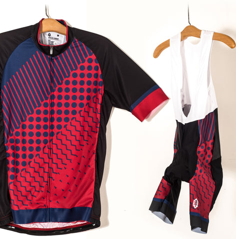 Fades Cycling Kit Jersey and Bib Short Combo