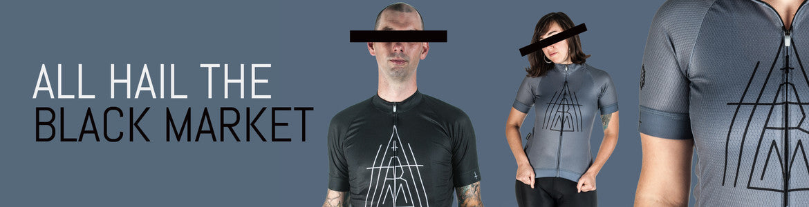All Hail The Black Market KVLT logo and deconstructed pentagram in one fetching jersey. We've partnered with Stevil and from this day forward you can proudly wear your indifference on your sleeve, chest and back. Or not... we don't really care. Available in men's or women's cuts, in either Back in Black or Earl Gray.