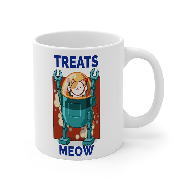 Treats Meow Coffee Mug