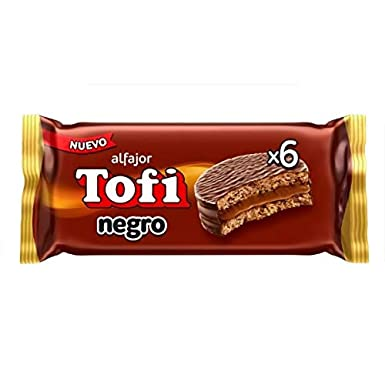 ALFAJOR TOFI CHOCOLATE x 6 (46gr ea.)