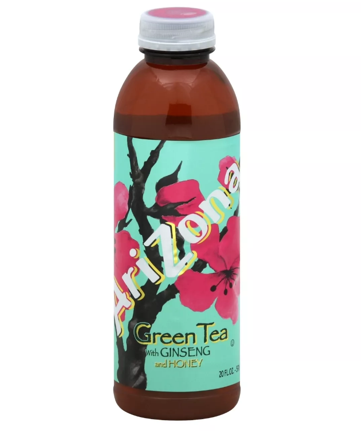 Arizona Green Tea Ginseng Honey Bottle 16.9 OZ