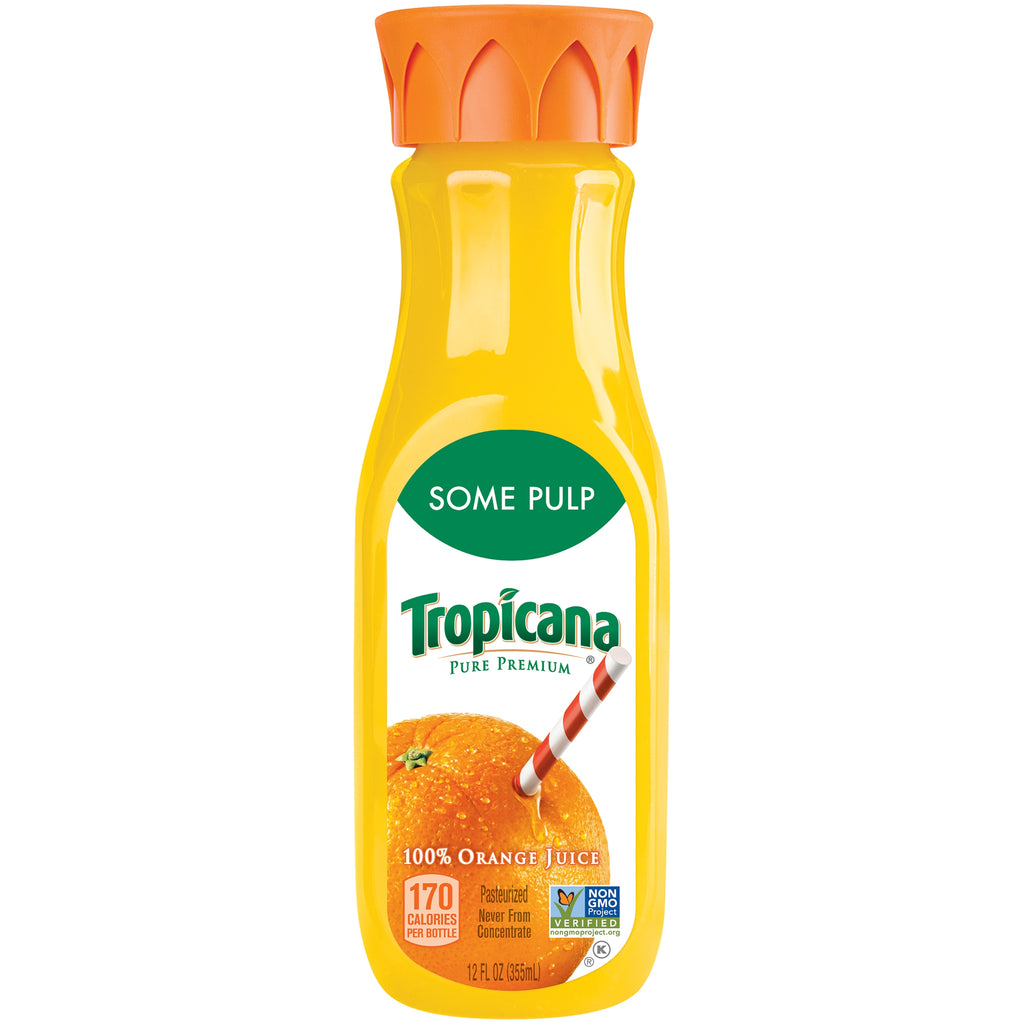 Tropicana Pure Premium, 100% Orange Juice Some Pulp, 12 Fl. Oz.