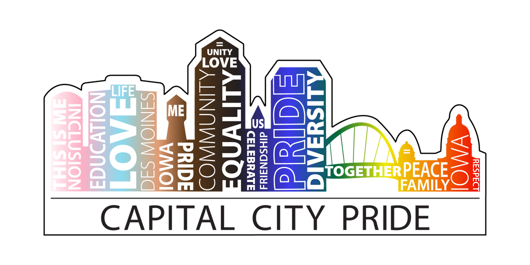 Capital City Pride Die-Cut Sticker