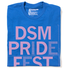 "Load image into Gallery viewer, DSM Pride Fest ""Vowels"" Shirt"
