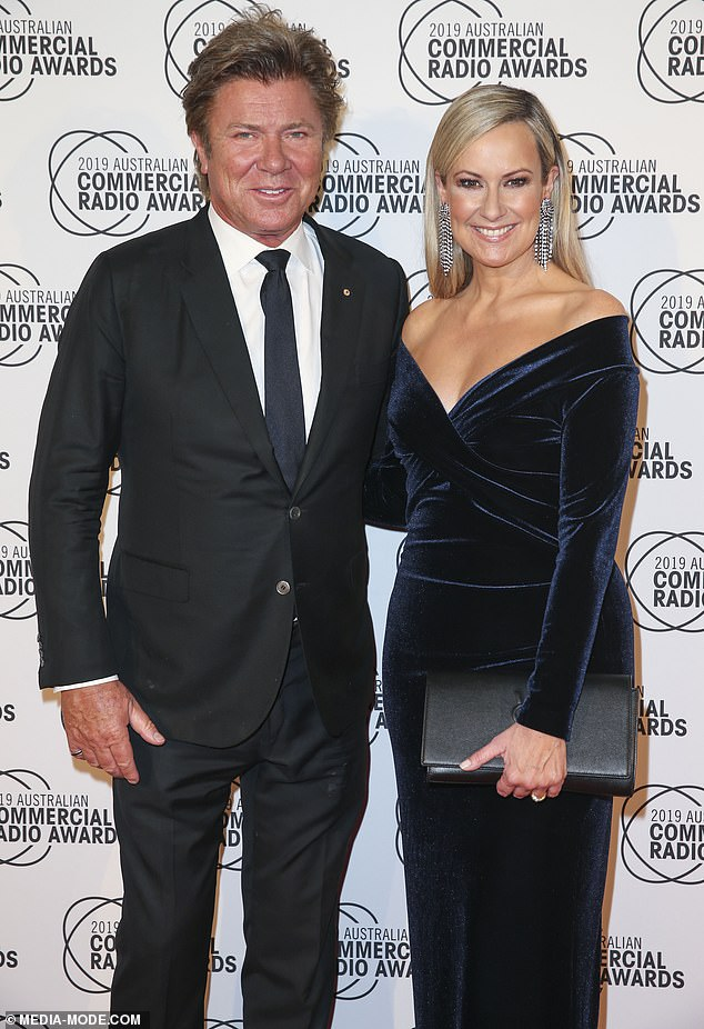 Melissa posed with her Smooth FM colleague Richard Wilkins