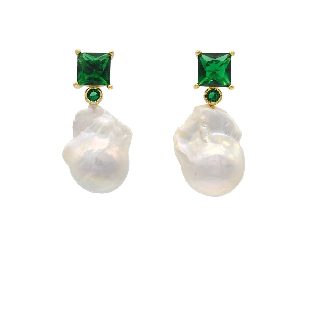 Sofia Earrings - Emerald