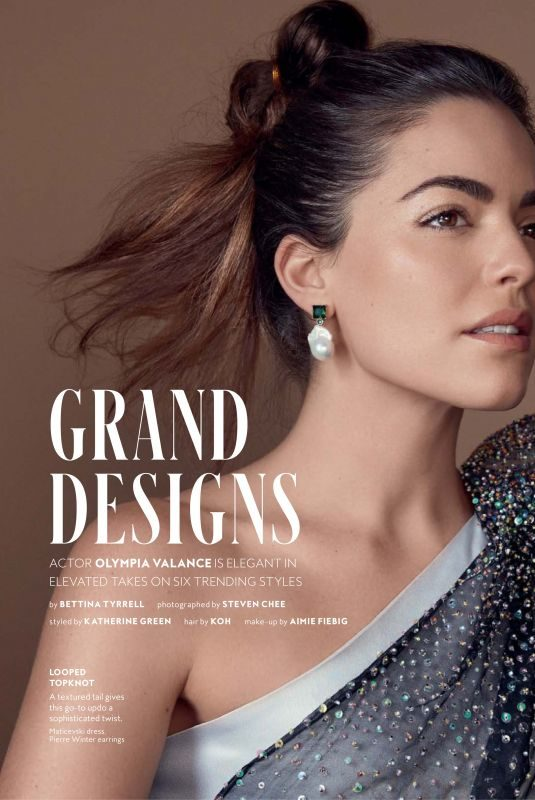 Olympia Valance Instyle Magazine - Sofia Earrings by Pierre Winter