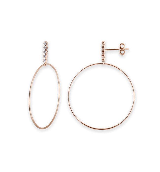 Rose Gold Bar Hoop Earrings | SALE