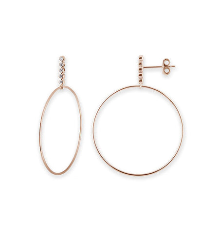 Satin Gold Pearl Hoop Earrings