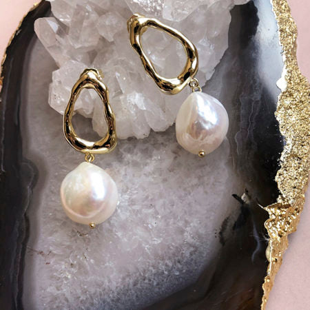 Baroque Pearl Drop Earrings - Pierre Winter Fine Jewels