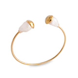 Gold Baroque Pearl Open Bangle - Pierre Winter Fine Jewels