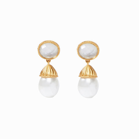 Catalina Clear Clip-On Earrings