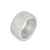 Wide Pave Ring