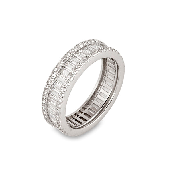 Baguette Cut Eternity Ring