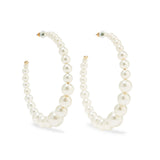 Halo Pearl Hoop Earrings