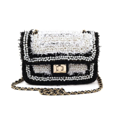Amelie White & Gold Bag