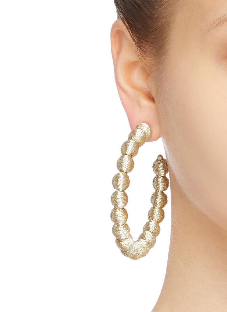 Metallic Gold Carnival Hoop Earrings