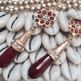 Scarlett Ruby Drop Earrings