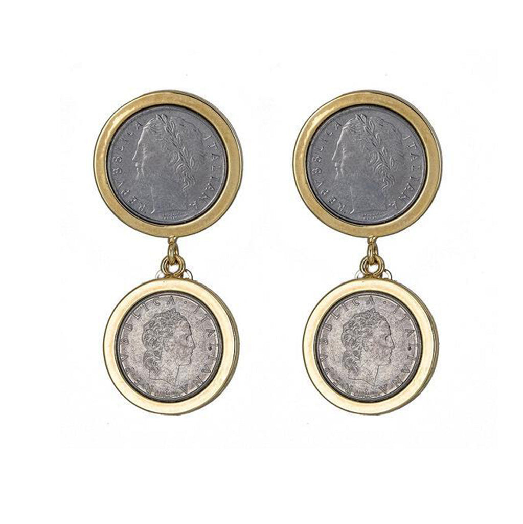 Lucia Duo Coin Earrings