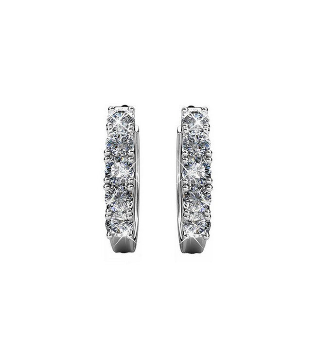 Queen's Ring Crystal Earrings