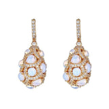 Duomo Moonstone Drop Earrings