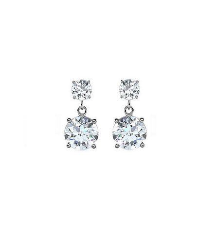 Single Stud Crystal Earrings