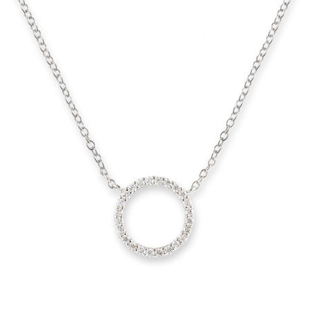 Silver Eternity Pendant Necklace