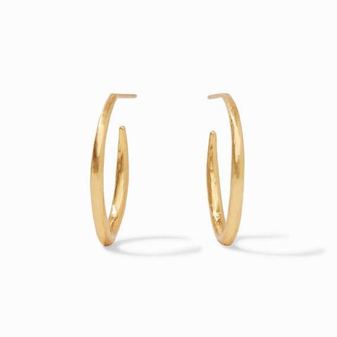 Crystal Cluster Gold Hoops